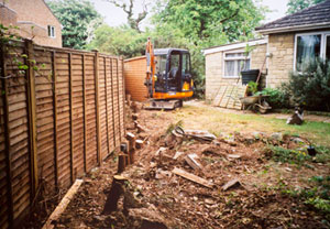Tree stump removal in Gloucestershire